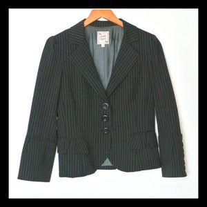 Nanette Lepore Blazer Wool Pin Stripe 8